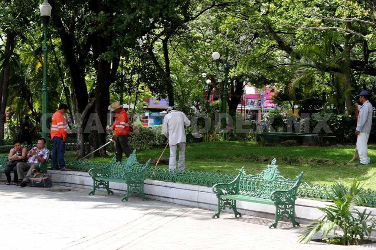 Inician rehabilitaci n y mantenimiento del parque jard n - Mantenimiento parques y jardines ...