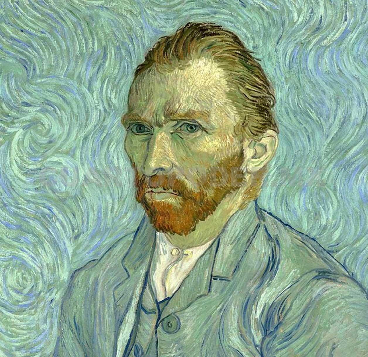 Un autorretrato de Vincent Van Gogh con un sombrero de paja b3e37bc4c28