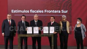 Autorizan estímulos fiscales para la frontera sur